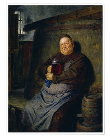 Poster Premium  Brother master brewer of beer in the cellar. In 1902. - Eduard Grützner