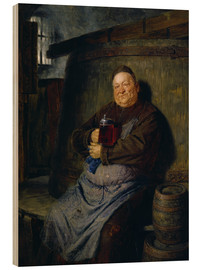 Stampa su legno  Brother master brewer of beer in the cellar. In 1902. - Eduard Grützner