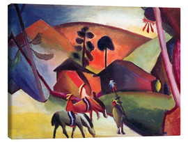 Stampa su tela  Indians on horseback - August Macke