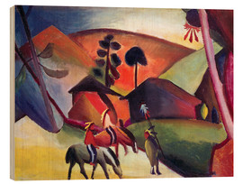 Stampa su legno  Indians on horseback - August Macke