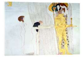 Stampa su vetro acrilico  Beethoven Frieze, desire for the luck - Gustav Klimt