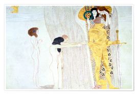 Poster Premium  Beethoven Frieze, desire for the luck - Gustav Klimt