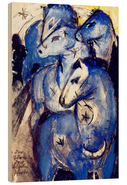 Legno  Tower Blue Horse - Franz Marc