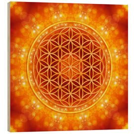 Legno  Flower of Life - Golden Age - Dolphins DreamDesign