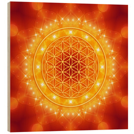 Legno  Flower of Life - Golden LightEnergy - Dolphins DreamDesign
