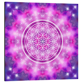 Alluminio Dibond  Flower of Life - Love Essence - Dolphins DreamDesign
