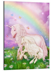 Alluminio Dibond  Unicorn Rainbow Magic - Dolphins DreamDesign