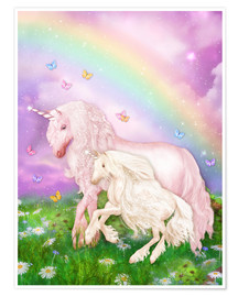 Poster Premium  Unicorn Rainbow Magic - Dolphins DreamDesign