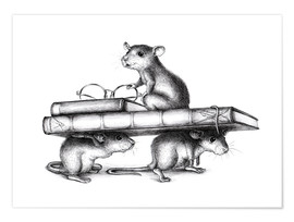 Poster Premium Three Rats (three avid readers)