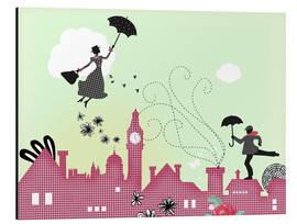 Stampa su alluminio  Mary Poppins London - Elisandra Sevenstar