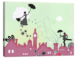 Stampa su tela  Mary Poppins London - Elisandra Sevenstar