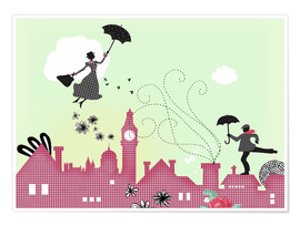 Poster Premium  Mary Poppins London - Elisandra Sevenstar