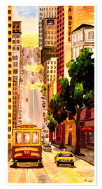 Poster Premium  San Francisco - Van Ness Cable Car - M. Bleichner