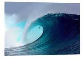 Stampa su vetro acrilico  Tropical blue surfing wave - Paul Kennedy