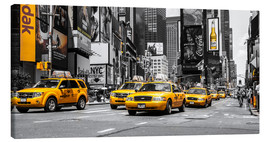 Stampa su tela  Taxi gialli a Times Square - Hannes Cmarits