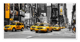 Poster Premium Taxi gialli a Times Square