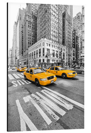 Stampa su alluminio  New York Yellow Cab - Marcus Klepper