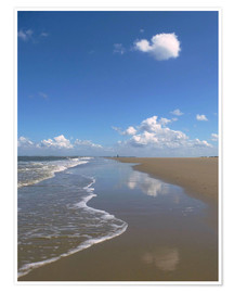 Poster Premium  further beach with clouds - Susanne Herppich