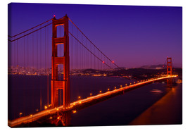Stampa su tela  Golden Gate Bridge by Night - Melanie Viola