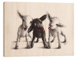 Stampa su legno  naughty sheep - Stefan Kahlhammer