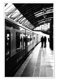 Poster Premium  S-Bahn Berlin black and white photo - Falko Follert