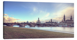 Stampa su tela  Dresden, as viewed by Canaletto earlier - Steffen Gierok
