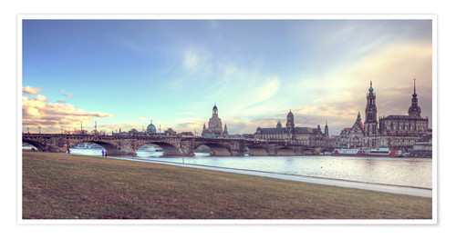 Poster Premium Dresden, as viewed by Canaletto earlier