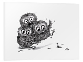 Forex  Help, three owls and a monster - Stefan Kahlhammer