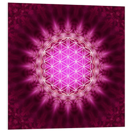 Forex  Flower of life - Symbol harmony and balance - red - Lava Lova