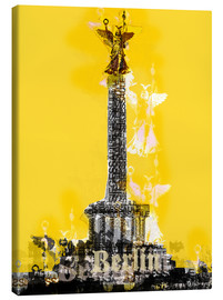 Stampa su tela  Berlin Victory Column (on Yellow) - JASMIN!