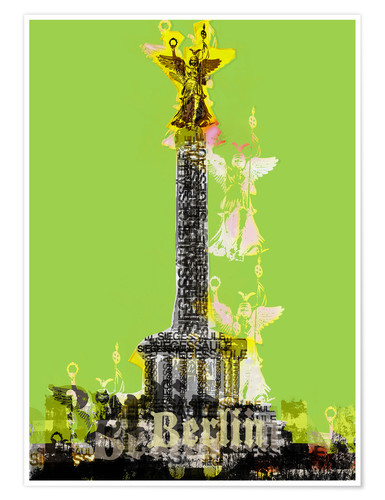 Poster Premium Berlin Victory Column (on Green)