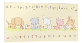 Stampa su PVC  baby pet animals with alphabet and numbers - Fluffy Feelings