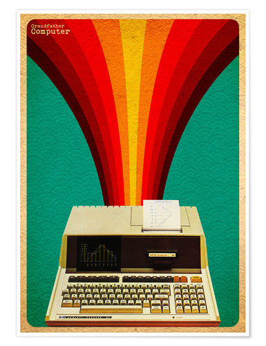 Poster Premium grandfather computer