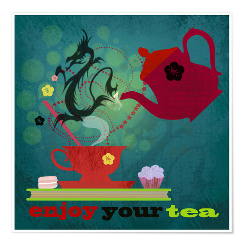 Poster Premium Enjoy your tea