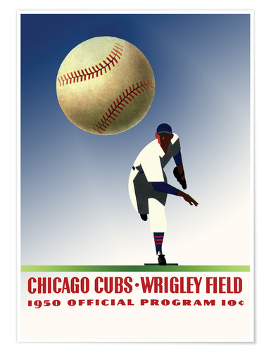Poster Premium chicago cubs 1950