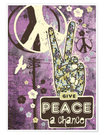 Poster Premium Give Peace A Chance