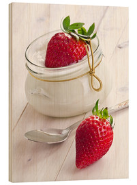 Legno  Fresh strawberries with curd - Edith Albuschat