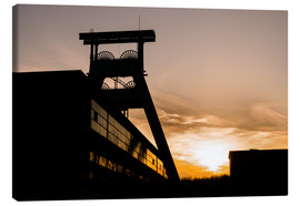 Stampa su tela  Colliery in Sunset - Daniel Heine