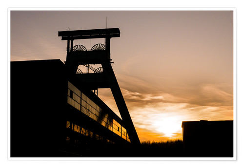 Poster Premium Colliery in Sunset