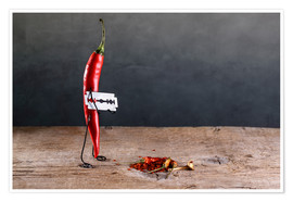 Poster Premium  Simple Things - Sharp Chili Pepper - Nailia Schwarz