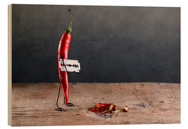 Stampa su legno  Simple Things - Sharp Chili Pepper - Nailia Schwarz