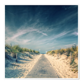 Poster Premium  Way to the beach - Thomas Deter