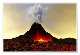 Poster Premium  An active volcan - Corey Ford
