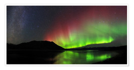 Poster Premium  Polar Lights, Milky Way and Big Dipper - Joseph Bradley