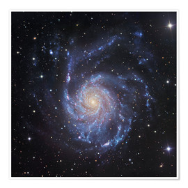 Poster Premium M101, The Pinwheel Galaxy in Ursa Major