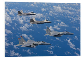 Stampa su PVC  Two F-15 Eagles and F-22 - HIGH-G Productions
