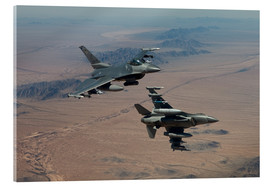 Stampa su vetro acrilico  Two F16 on a training mission - HIGH-G Productions