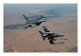 Poster Premium Two F16 on a training mission