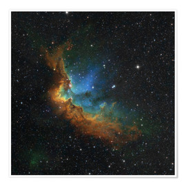 Poster Premium  NGC 7380 in the Hubble palette colors - Rolf Geissinger