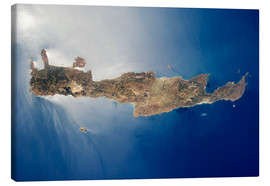 Stampa su tela  View from space of the island of Crete